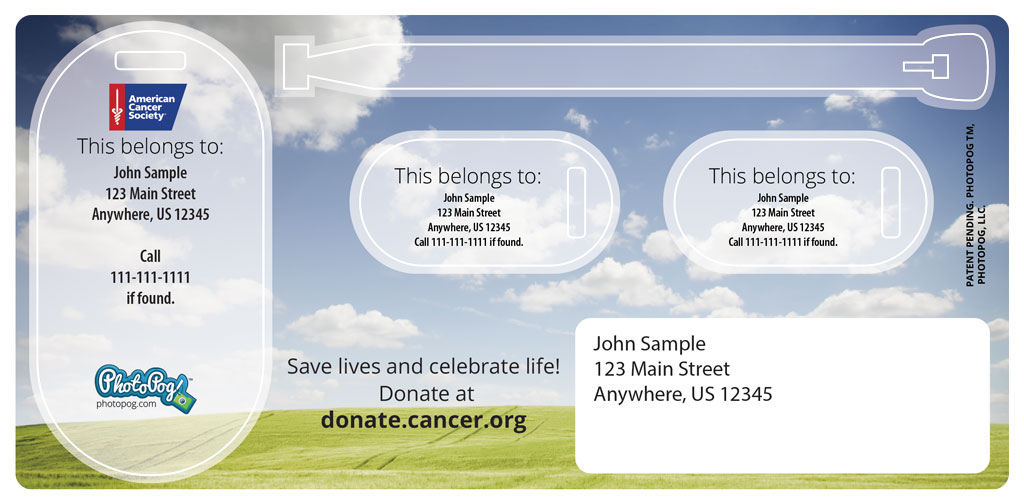 There is Hope - American Cancer Society Bag Tag - PhotoPog