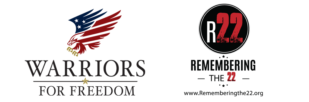 Warriors for Freedom and Remember the 22 logos header image