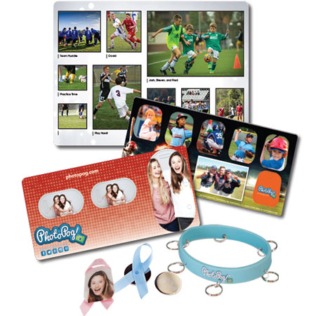 PhotoPog Fundraising Product Samples with Accessories
